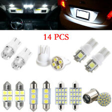14pcs T10 31 36 41mm LED Interior Package Map Dome License Plate Lights White