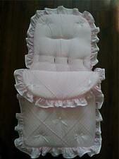 Baby's Cosy Toes / Footmuff 3-in-1 in pink white  spot  pintuck design