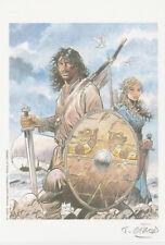 """ex libris Girod : """"Hommage à Thorgal """" - Numéroté et Signé - 2"""