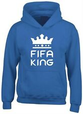Fifa King Printed Hoodie Football Gamer Gaming Ultimate Team Player Champion