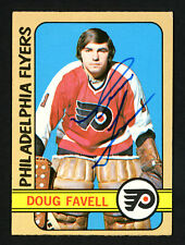 Doug Favell Autographed Signed 1972-73 Topps Card #74 Philadelphia Flyers 154178