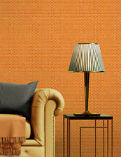 Vlies Tapete Retro Uni Struktur Stick Optik metallic schimmernd Orange DE120036
