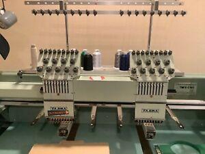 Tajima TMFX-C902S, 2 head, 9 color industrial embroidery machine with USB