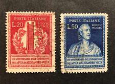 1949 20 + 50 lire ALESSANDRO VOLTA PILA ELETTRICA SASSONE S.139 usato FRA1067