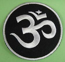 parche escudo termoadhesivo bordado Om, Hindú, Yoga, Meditación
