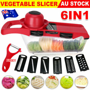 Vegetable Slicer Mandoline Grater Cutter Veg Peeler Potato Onion Carrot Chopper