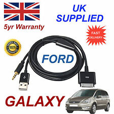 Ford Galaxy 1529487 Para Apple 3gs 4 4s Iphone Ipod Usb Y 3.5 mm Cable Aux Negro