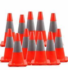 "[ 12 Pack ] 18"" Orange Pvc Traffic Safety Cone Construction Cone 18""(12 Cones)"