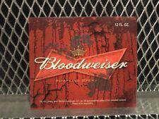 BUDWEISER BEER Mock Bottle Label ~ BLOODWEISER ~ Funny Halloween Sticker