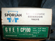Sporlan Thermostatic Expansion Valve GVE-1-CP100 - R-22 - NEW OLD STOCK