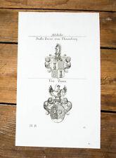 1826 Wappen Adelige Dalla Torre von Thurnberg von Train Kupferstich Tyroff