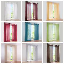 Vorhänge Gardinen Wohnzimmer Schlaufenschal Fenster Stores Voile Transparent