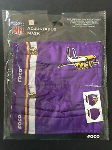 Minnesota Vikings Officially Licensed 2 Pack Adult Face Mask - Qty Discounts!