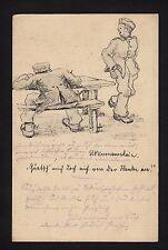 """37313/ AK - 1. Weltkrieg - Karikatur - """"Quatsch mich doch nicht von der…"""" - (*)"""
