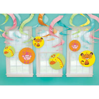 FISHER PRICE BABY SHOWER HANGING SWIRL DECORATIONS (12) ~ Party Supplies Animals