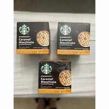 Starbucks CARAMEL MACCHIATO - by Nescafé Dolce Gusto LOT OF 3