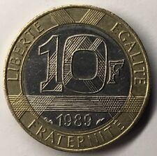 10 Francs Génie De La Bastille 1989 TTB Monnaie Française Achat Unitaire