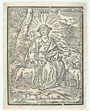 XVIIIsec DIVINA PASTORA DE LAS ALMAS santino holy card madre del buon pastore