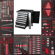 No.1 PremiumPro Werkzeugwagen Werkzeug gefüllt Top Carboneinlagen Werkstattwagen