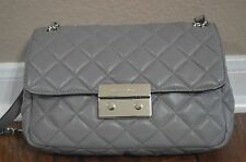 Michael Kors Grey Sloan Quilted Flap Shoulder Bag with Dust Bag