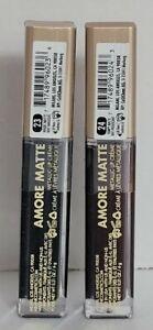 2 New Milani Amore Matte Metallic Lip Creme , #23 Magic Matte,#24 Vampy Matte