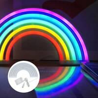 Rainbow Neon Sign Lights Wall Decor Home Decoration Light Lamp for Kids Room UK