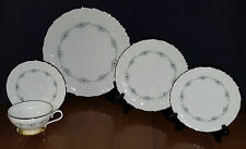 Lenox China Musette F507 - 5 Piece Place Setting Plate Cup Platinum Trim