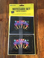 2011 Celebrate 8 Notecard Set with 8 Forever Stamps Sealed