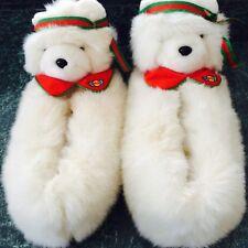 Rare 1987 Dayton Hudson Miss Santa Bear Slippers