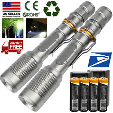 Tactical Zoomable T6 LED Powerful Adjustable Flashlight 18650 powerful Torch TOP