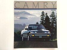 1986 Toyota Camry 12-page Original Car Sales Brochure Catalog