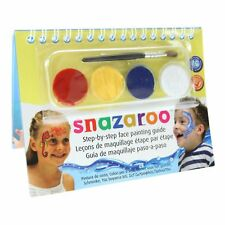 Snazaroo Sea Wonders 2 Step A6 Guide Booklet With 4 Face Paints & Brush