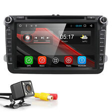 """GPS Navi 8"""" Android 6.0 Car Stereo DVD Player Radio WiFi USB for VW HD 2Din+CAM"""