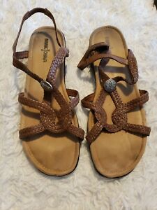 Minnetonka strappy slip on sandals Sz 11W