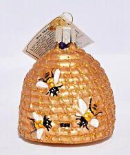 Old World Christmas - Bee Skep (Bee Hive) Christmas Ornament - New
