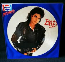 "Michael Jackson ""BAD"" Picture Disc (1987 Vinyl LP 12"") mit original Pepsi Hülle"