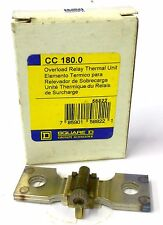SQUARE D OVERLOAD RELAY THERMAL UNIT, CC 180.0, 78.4 TO 123 FULL LOAD AMPS