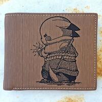 Pikachu Sasuke Cosplay Wallet Laser Engraved Pokemon Naruto Anime Gift