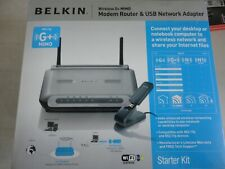Belkin Wireless G+ MIMO Modem Router P58620UK  & USB Network Adapter Boxed