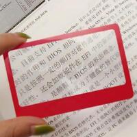 1/2/5Pz mini carta di credito lente d'ingrandimento tascabile custodia  !