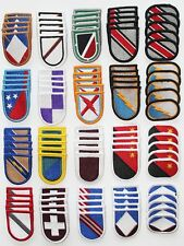 Dealer Lot of 100 Army Unit Insignia Flash & Oval Military Beret Patches - 100B