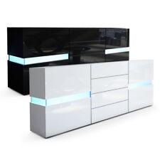 Sideboard Kommode Flow in Weiß oder Schwarz Hochglanz 177 cm - Ambient Light