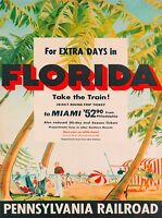 Route of the Silver Fleet Florida United States Travel Advertisement Poster