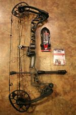 Mathews Triax bow, left-handed 60# stone color with extras