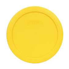"""Pyrex 7201-PC 6"""" Meyer Lemon Yellow Round Plastic Cover Lid for 4 Cup Glass Bowl"""
