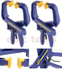 "2x Irwin QuickGrip 100mm 4"" Hand Ratchet Adjustable Trigger Speed Clamp Q/G59400"