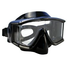 New Promate Panoramic Tri-View Silicone Purge Mask for Scuba Dive and Snorkeling