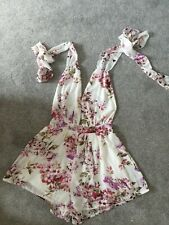 Ladies Size 8 Playsuit Flowery Summer Outfit