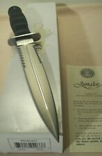 1997~JUNGLEE~WATERLOO~SEKI JAPAN~UNUSED~TACTICAL DOUBLE EDGE DAGGER KNIFE +BOX~