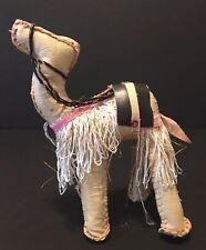 Vintage Handmade Egyptian Camel Faux Leather Toy